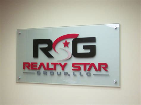 acrylic signage company frosted painted  clear