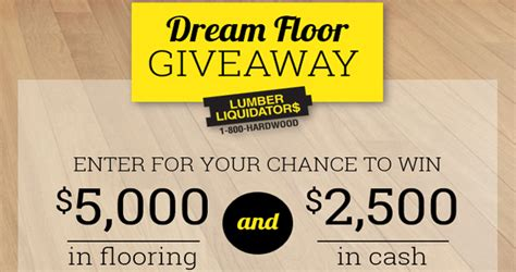 flooring giveaway lumber liquidators sweepstakes win the dream floor giveaway 2017