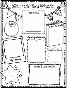 star of the week poster parent letter and writing page With star of the week poster template