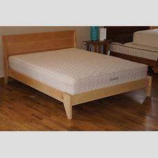 "Modern ""two"" Platform Bed Handmade Mid Century Modern Bed"