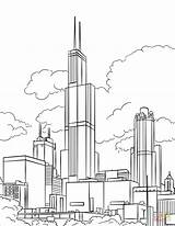 Tower Coloring Willis Printable Sears Drawing Illinois Monuments London Lena Categories sketch template