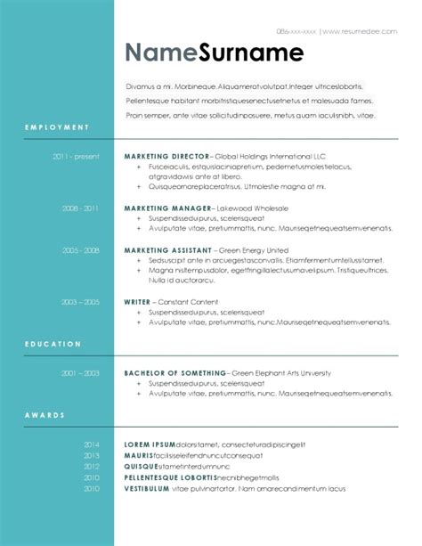 Resume Template Docs by 30 Docs Resume Template To Ace Your Next