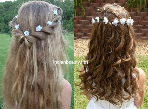 Wedding Hairstyles For Girls : Cute Flower Hairstyles For Kids