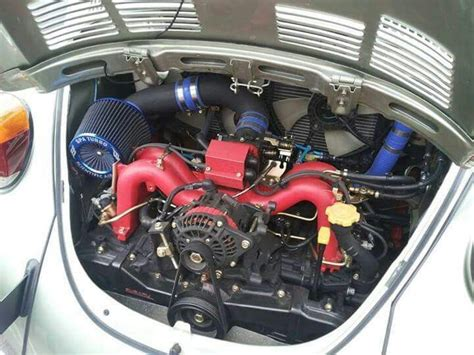 subaru boxer engine in vw beetle vw beetle running a subaru turbo engine a beetle
