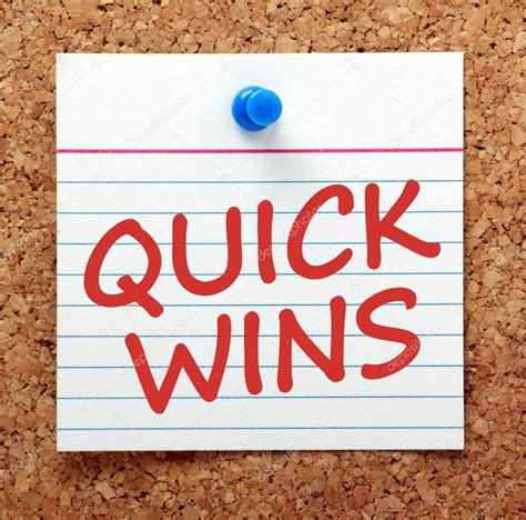 Quick Wins Reminder ⬇ Stock Photo, Image by © thinglass #104436174