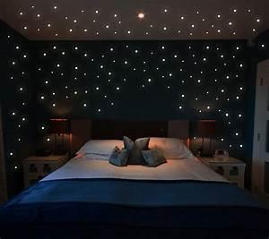 Sternenhimmel Fürs Schlafzimmer : wandtattoo leucht punkte 355 stk fluoreszierende pkt ~ Michelbontemps.com Haus und Dekorationen