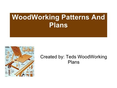 woodworking patterns  plans