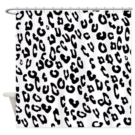 black and white print curtains black and white leopard print shower curtain by flowersforyou1