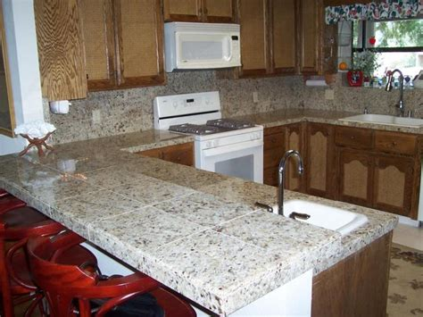 Kitchen Countertop Tile Ideas by Kitchen Countertop Ideas Choosing The Material
