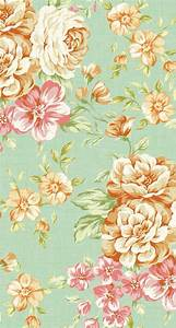 iPhone 5 wallpapers - Vintage Flower Print 3 | Wallpapers ...