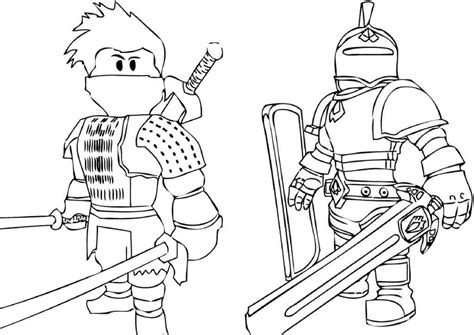 roblox coloring pages knight  ninja