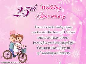 25th wedding anniversary wishes messages and wordings wordings and messages - 25th Wedding Anniversary Wishes