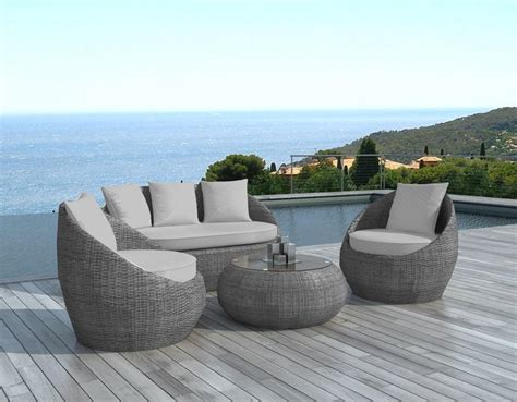 salon de jardin nilo en r 233 sine tress 233 e 4 places gris
