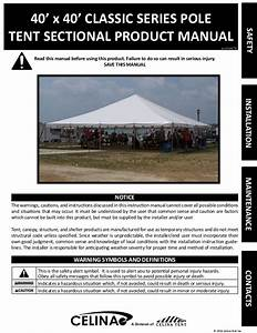 40 X 40 Pole Tent Installation Instructions