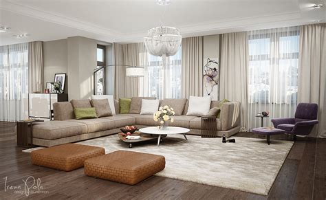 Square Living Room : Super Luxurious Apartment In Kiev, Ukraine