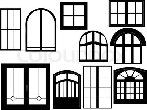 Home Interior Photography - window collection silhouette vector stock vector colourbox