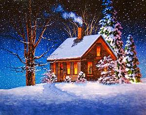 Christmas Cabin Wallpaper and Background