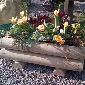 Garden, Log, Planters