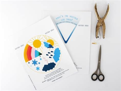 printable weather learning wheel  kids