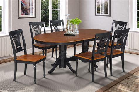 somerville oval dinette dining room table set  black