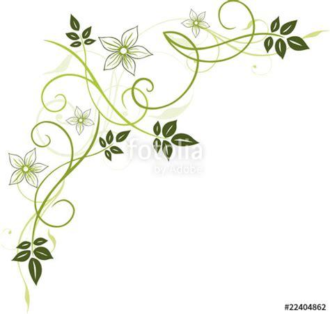 Blumenranke Grün Horizontal by Quot Blumen Bl 252 Ten Ranke Bl 228 Tter Floral Filigran Gr 252 N