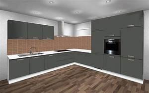 Arbeitsplatte Küche Anthrazit : 367 x 350 cm l k che orig 8967 wellmann alno ~ Michelbontemps.com Haus und Dekorationen