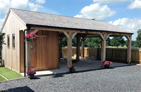 Carport With Shed by Morton Garden Buildings Ltd Cumbria Gazebos Garden