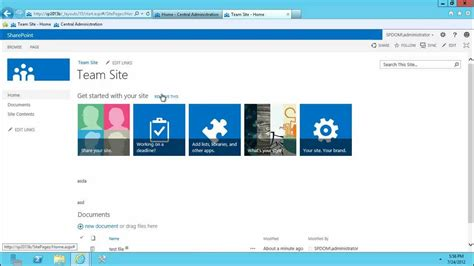 Sharepoint 2013 Preview Central Admin And Team