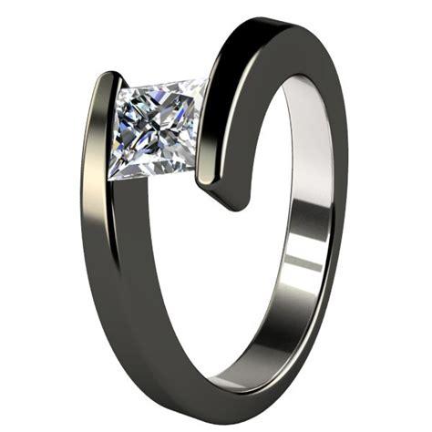 Black Titanium Wedding Bands For Women  Wedding And