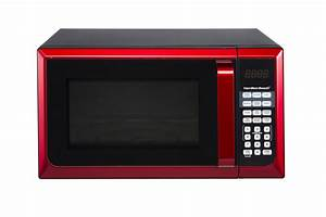 Hamilton Beach Stainless Steel 0 9 Cu  Ft  Red Microwave