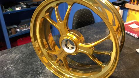 Teamapt Motorrad Felgen Gold Lasur Pulverbeschichten Ducati Ktm Harley Hochglanzverdichten