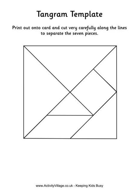 tangram template black  white color