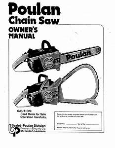 Poulan Chainsaw 245 User Guide