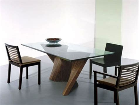 modern dining table legs choosing the type of modern glass dining table that