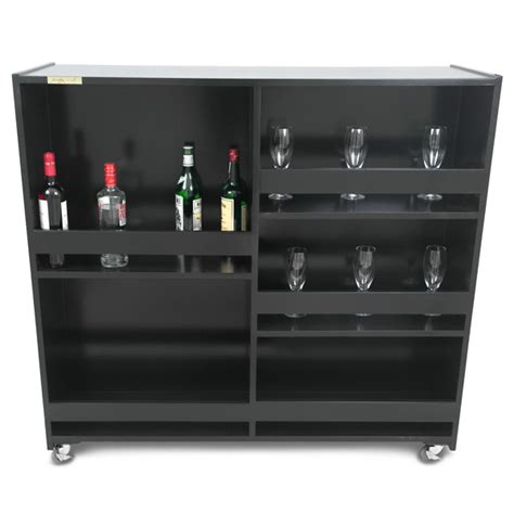 Buy Home Bar by Decadent Black Diamant 233 Mobile Cocktail Bar Contemporary