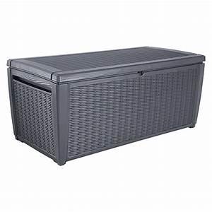 Sitzkissen Box Garten : keter garten aufbewahrungsbox sumatra silbergrau 145 x 73 x 64 cm kunststoff 8283 ~ Whattoseeinmadrid.com Haus und Dekorationen