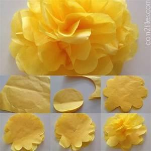 Comment Faire Des Choses En Papier : tuto fleur en papier crepon ~ Zukunftsfamilie.com Idées de Décoration