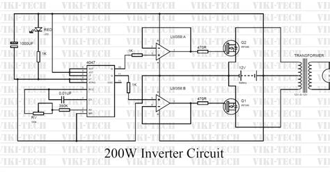 how to make 200 watt inverter electronic circuits