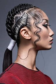 Black Finger Wave Hairstyles with a Ponytail