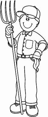 Clip Clipart Farm Farmer Kleurplaten Picasa Web Van Farme Profesiones Figuras Sonia Los Boerderij Albums Helpers Oficios Cliparts Carson Ces sketch template