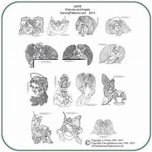 Angels, U0026, Cherubs, Patterns, U2013, Classic, Carving, Patterns