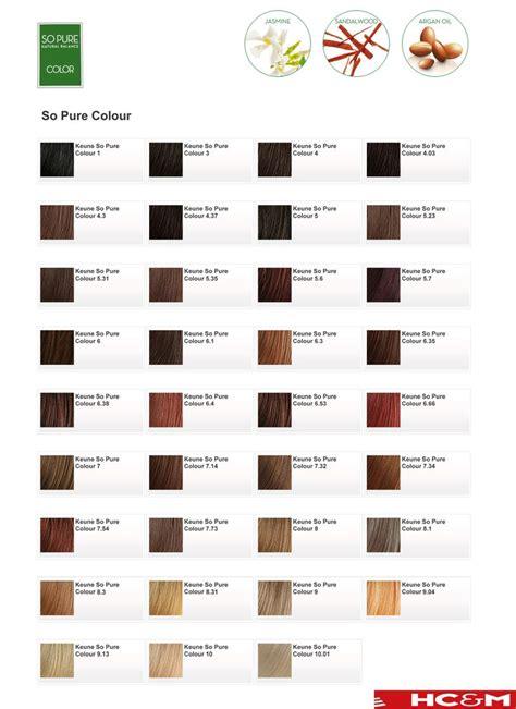 Hair Shade Chart by Keune So Color Shade Chart Hair