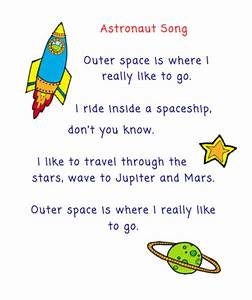 The Very Busy Kindergarten: Astronaut Song for Calendar Time