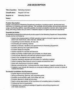 10+ Marketing Assistant Job Description Templates - PDF ...