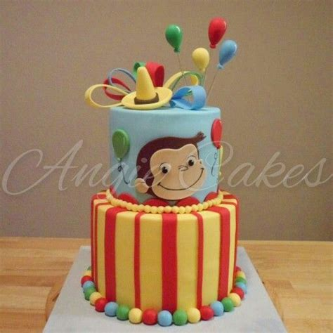 curious george cakes ideas  pinterest