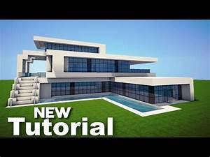 MinecraftEasy Modern House / Mansion Tutorial #5