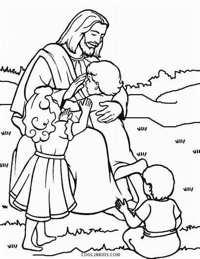 Jesus Coloring Loves Pages Printable Children Cool2bkids