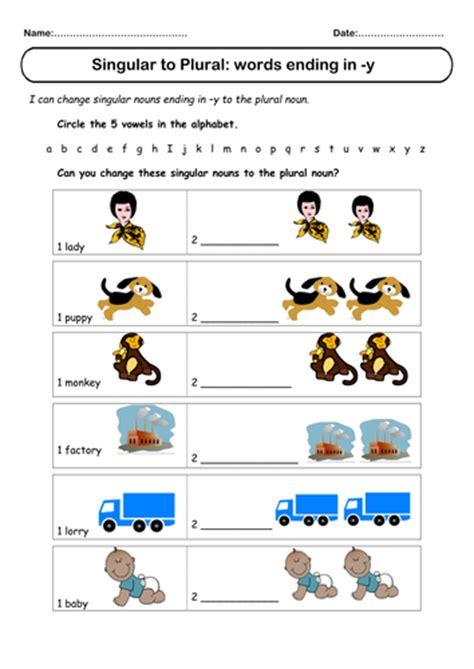 Spelling Plurals Of Words Ending In Y By Rogersmith Uk