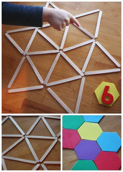 geometric shapes activity math  stem ideas  kids