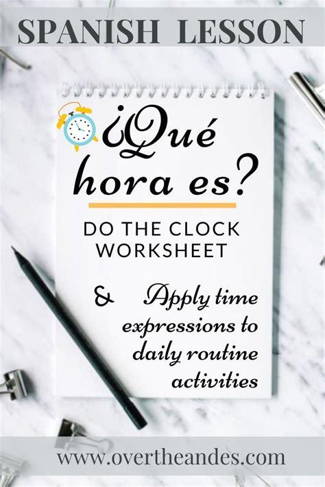 spanish lesson   hora es     images